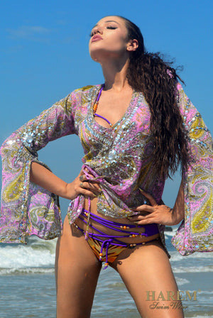 ETERNAL FLAME TUNIC (pink paisley)