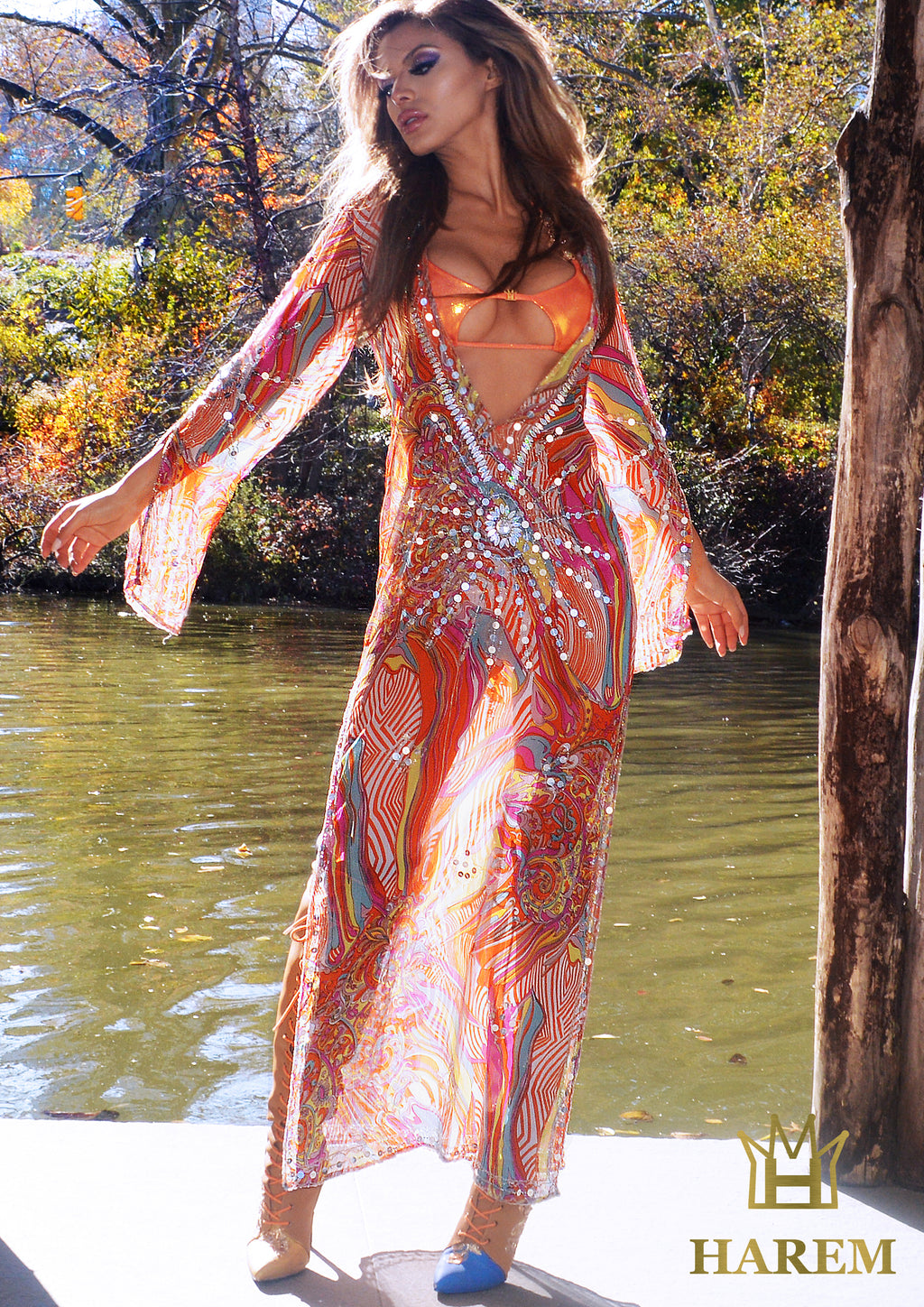 WILD AT HEART KAFTAN (sun multi color)