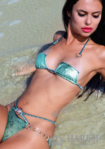 ROCK ME BIKINI ( gold metallic velvet)
