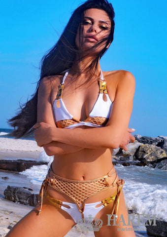 WILDIN BIKINI (tangerine gold metallic)