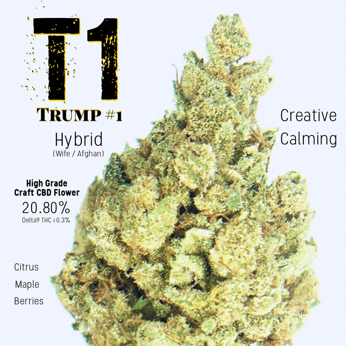 Rip-N-Shred- T1 (TRUMP)  - Waco Hemp Farm - High Grade Craft Hemp Flower w/built in grinder