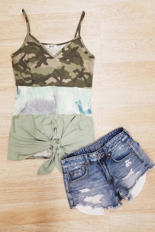 6220   Carri Moss Camo Top
