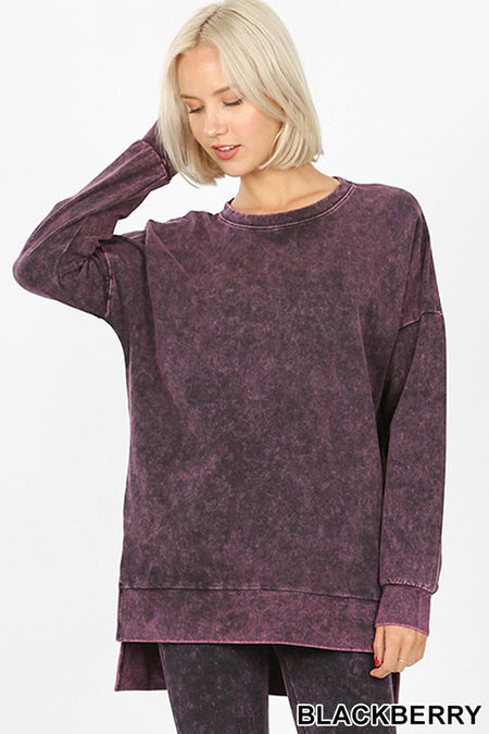 2053   Sherry Brushed Microfiber Long Sleeve Top