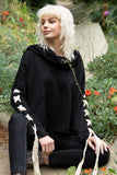 698   Jera French Terry Sweatshirt w/ Laced Sleeves