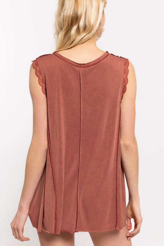 1043   Rylee Rose Petal Sleeveless Top