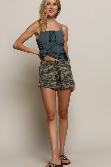 18044   Gisele High Rise Black Frayed Side Skinny Shorts - Sizes 2 - 22!