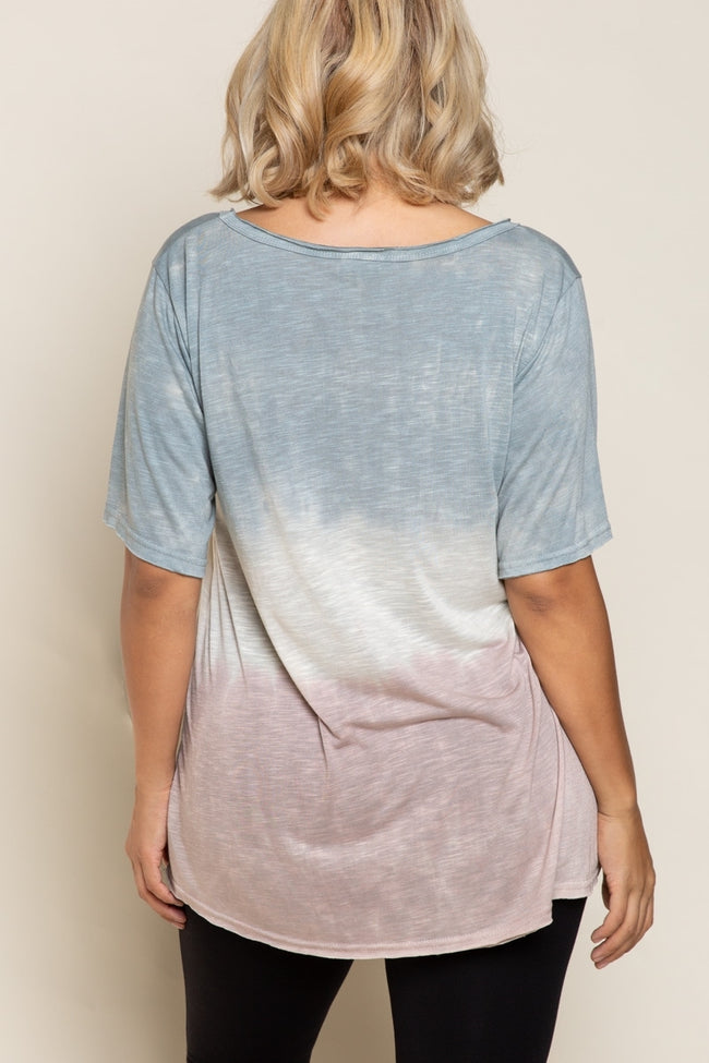 1502   Georganne Beach Colorblock Top
