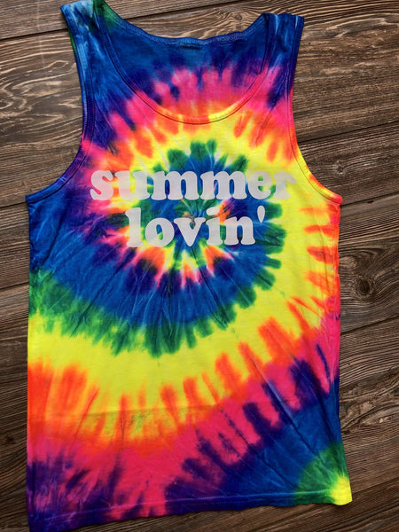 9339   Candi's Summer Lovin' Tie Dyed Tank Top