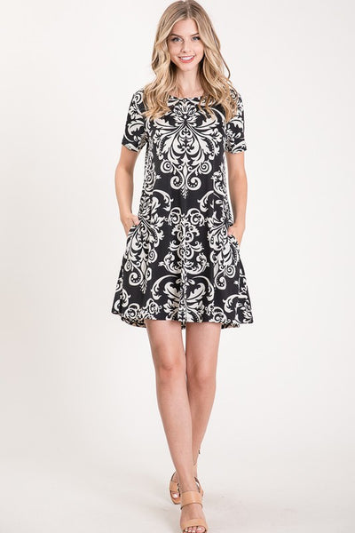 108164   Jules Damask Dress