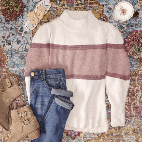 6334   Evelyn Striped Sweater