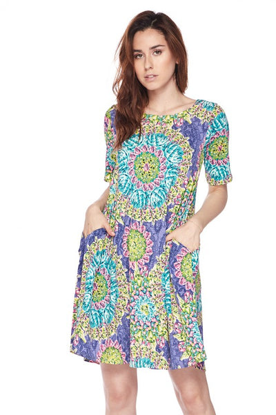 3500   Flutter Sleeve Austin Powers Tunic/Dress