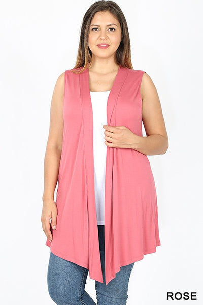 1438   Drapey Solid Vest