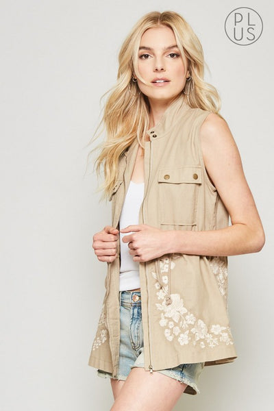 14919   Embroidered Vest