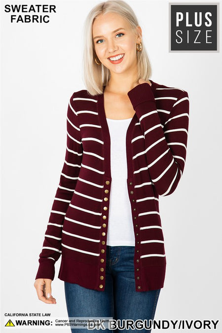 7060   Harlow Multi-Stripe Hooded Sweater