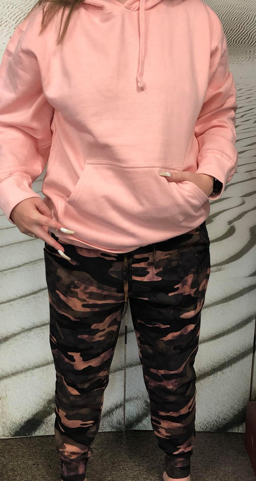 018924   Dallas Blush Hoodie w/ distressing