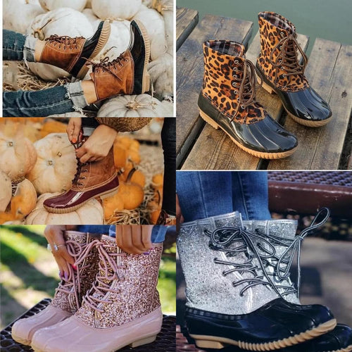 11120   Lace-Up & Slip-On Duck Boots