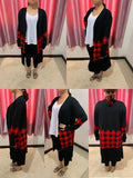 1408   Janie Buffalo Plaid Cardigan