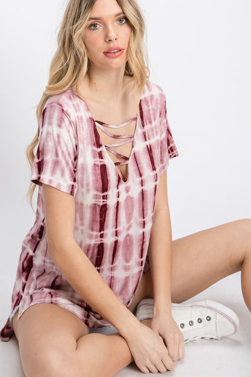 9575   Elise Tie-Dye Strappy Top