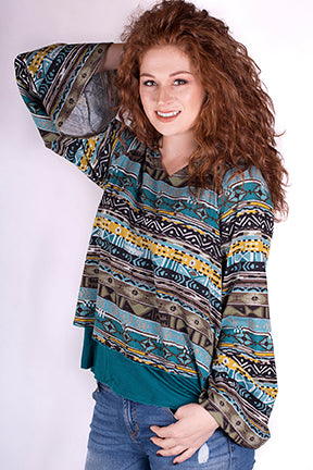 182020632    2-Layer Aztec Top