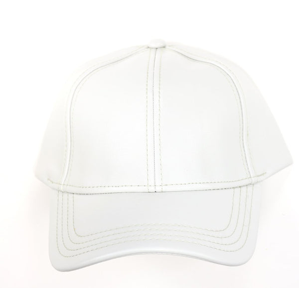 CC Leather Ball Cap