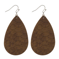 222610   Faux Leather Earrings