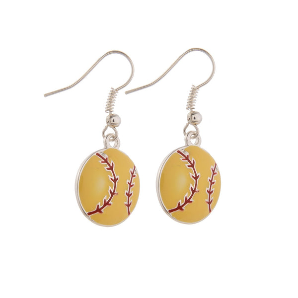 225280   Softball Earrings