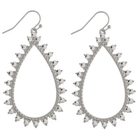 225367   Long drop earring with spikes