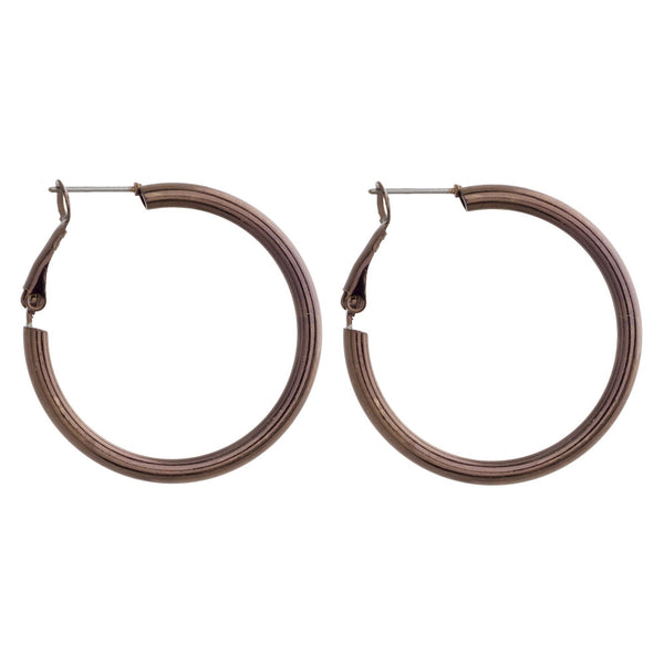 22547X   Short metal hoop earrings