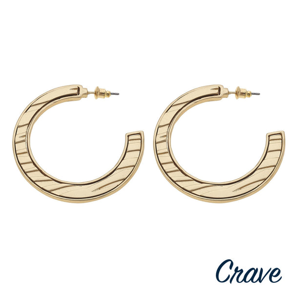 225941   Open hoop earrings