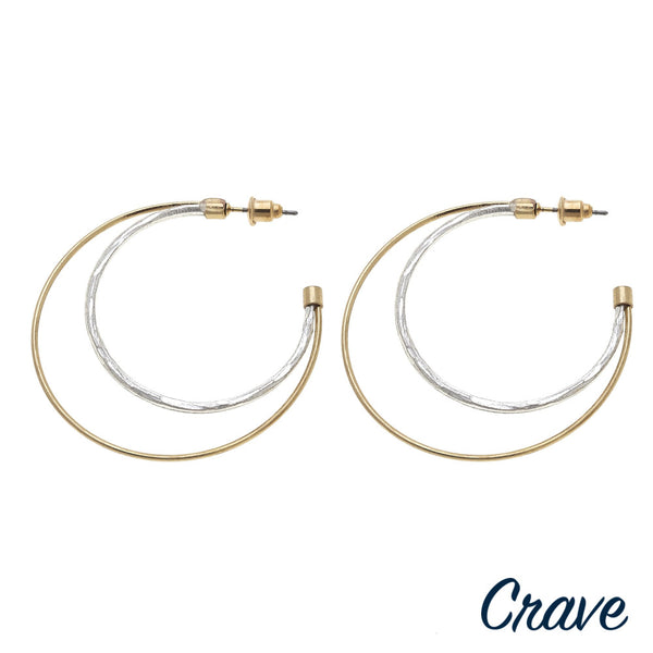 22597X   Double Hoop Earrings
