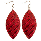 232313   Sofia Leather Earrings