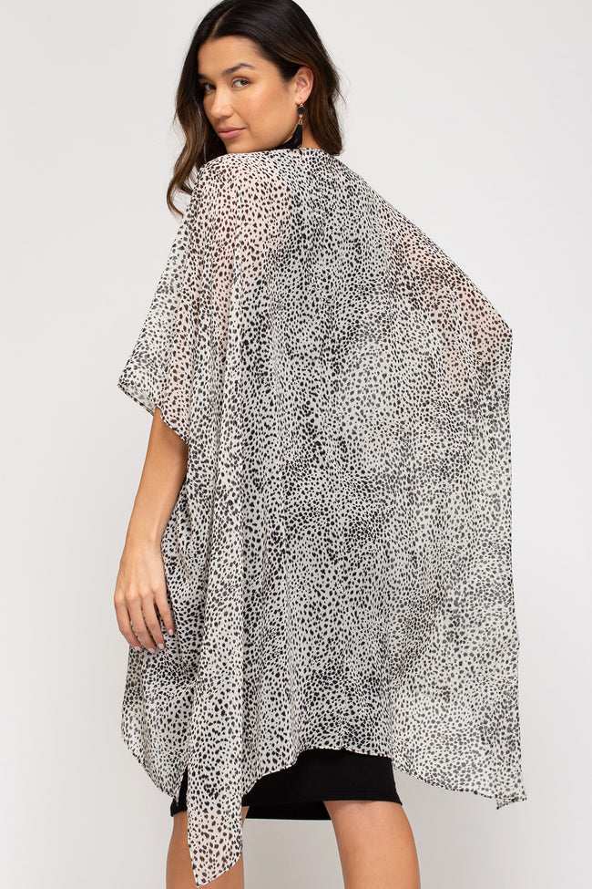 6406   Elicia Leopard Print Cover Up