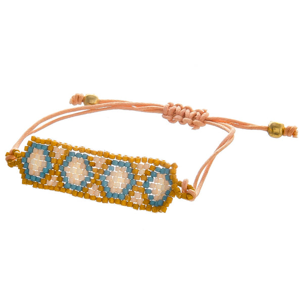 420731   Gorgeous light weight seed beaded bracelet