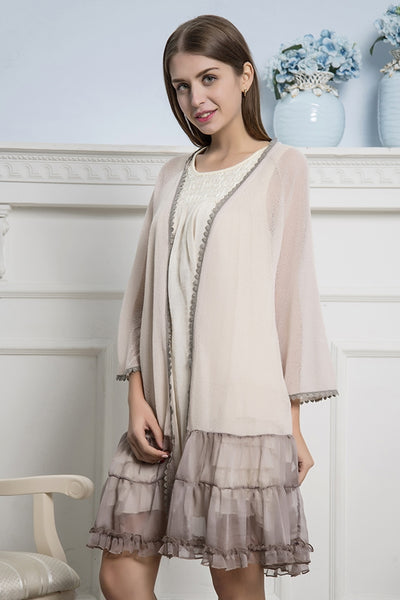 133   Ruffle Accent Cardigan