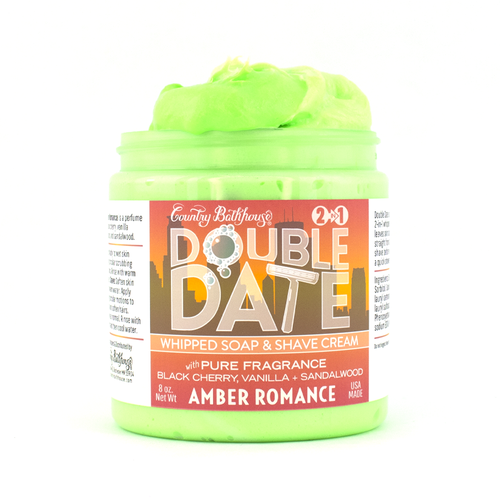 69561   Double Date Whipped Soap and Shave - Amber Romance