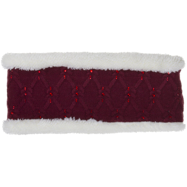 CC Headband    Knit C.C head wrap with rhinestone detail