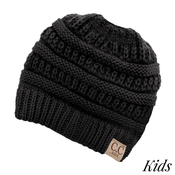 60c26871712 Kids CC Beanie - Messy Bun Beanie – True Betty Boutique
