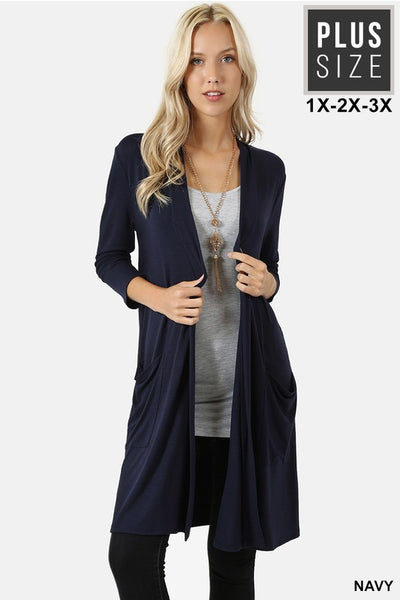 1439   Lauren Slouchy Pocket Cardigan