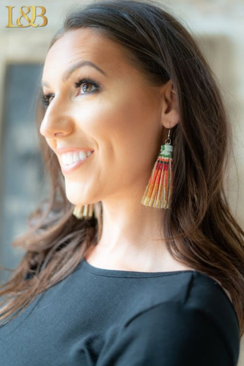 043   Cher Serape Tassel Earrings