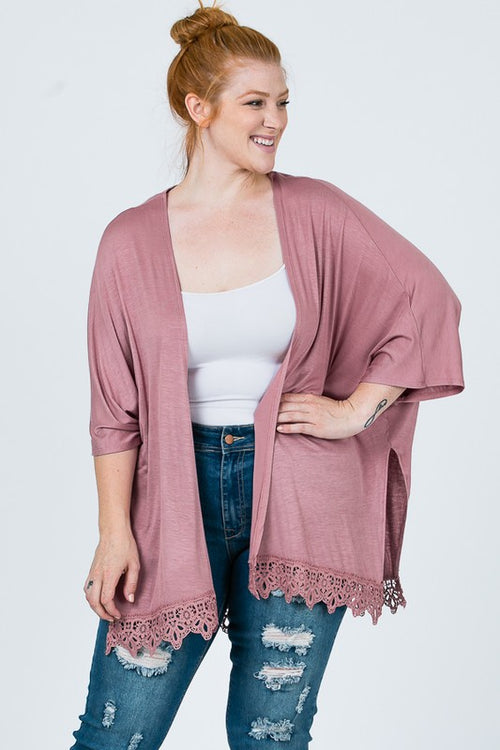 ZB-0212   Solid Lace Cardigan