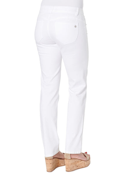 WZS1560OW   Lily White Absolution Straight Leg Jeans - Plus Democracy Jeans