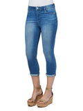 B1784AQOQ   Angela Democracy High Rise Ab-solution Crop w/ Embroidered Pocket Jeans