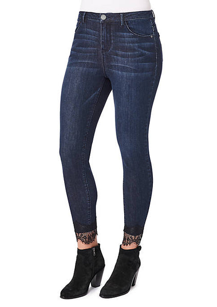 DEM-WKE1835BX   High-Rise Lace Ankle Skimmer Jeans