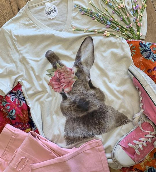 15309   Beatrix Watercolor Bunny Graphic T-Shirt