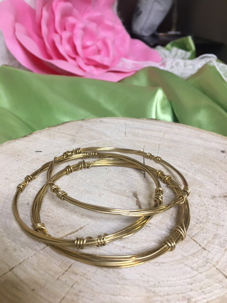 0715   Catie Twist Bangle Bracelets