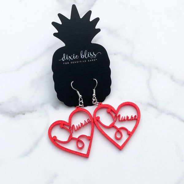 1418    Anaya Nurse Appreciation Earrings by Dixie Bliss