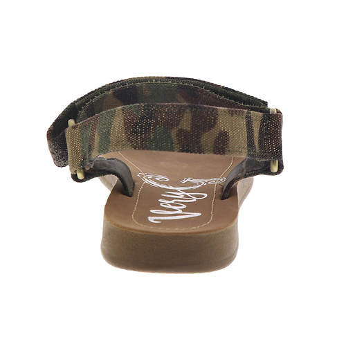 0079   Tina Strappy Casual Camo Sandals