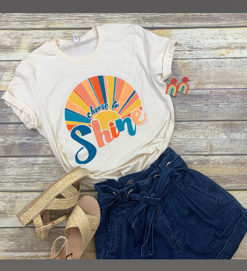 16505   Sara Leigh Southernology® Choose to Shine Statement Tee