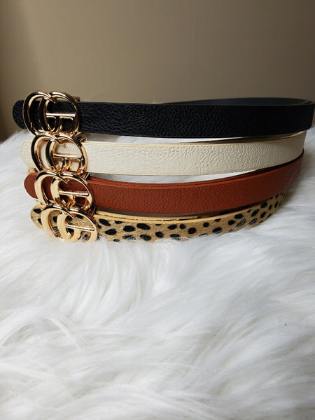 49025   Designer-inspired Skinny Belts