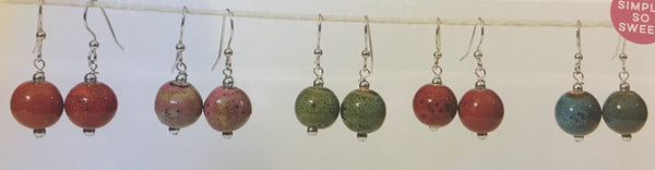 810215   Round Clay Earrings
